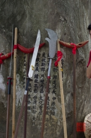 Taiwan 2012 - Taipei - Lin-Namens-Fest - Schauwaffen