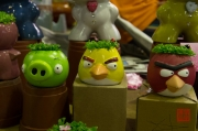 Taiwan 2012 - Taipei - Jianguo Holiday Flower Market - Angry Birds Blumentopf