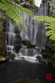 Taiwan 2012 - Taipei - Longshan Tempel - Wasserfall II