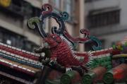 Taiwan 2012 - Taipei - Longshan Tempel - Dachrelief - Fisch