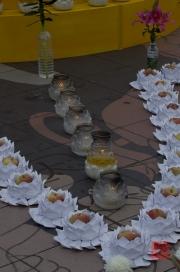 Taiwan 2012 - Taipei - Longshan Tempel - Tempelfest - Lotusecke I