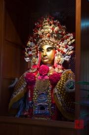 Taiwan 2012 - Taipei - Dalongdong Baoan Tempel - Zeremonien-Maske II