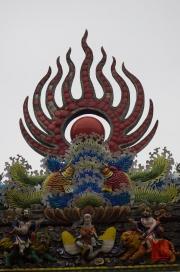 Taiwan 2012 - Taipei - Dalongdong Baoan Tempel - Dachornament Detail
