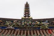 Taiwan 2012 - Taipei - Dalongdong Baoan Tempel - Dach - Pagode