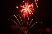Volksfest Nuremberg 2013 - Fireworks - Red & Fountains