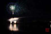 Volksfest Nuremberg 2013 - Fireworks - Blue & Fountains
