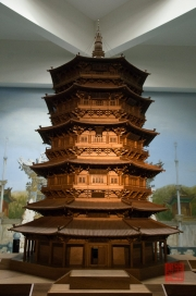 Shanxi 2013 - Exhibition - Wooden Pagoda Replica