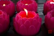 Malaysia 2013 - Georgetown - Wat Chaiya Mangkalaram - Lotus Candle