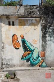 Malaysia 2013 - Georgetown - Street Art - Happy Dog