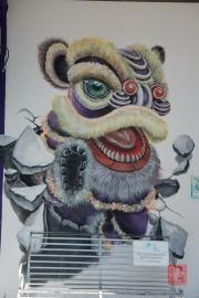 Malaysia 2013 - Georgetown - Street Art - Dancing Lion