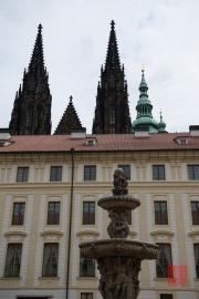 Prague 2014 - Fountain & St. Vitus Cathedal