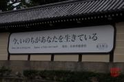 Japan 2012 - Kyoto - Higashi Honganji - Slogan