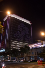 Taiwan 2012 - Taipei - Bangiao - Hausbeleuchtung - Blumen