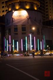 Taiwan 2012 - Taipei - Bangiao - Hausbeleuchtung - Fitnesscenter