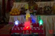 Taiwan 2012 - Taipei - Longshan Tempel - Tempelfest - Opfergaben