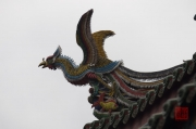 Taiwan 2012 - Taipei - Longshan Tempel - Dachrelief - Phönix