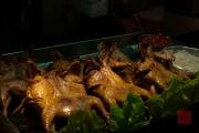 Taiwan 2012 - Taipei - St. Raohe Nachtmarkt - flache Hähnchen