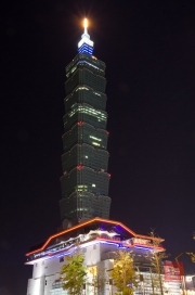 Taiwan 2012 - Taipei - Xinyi by Night - Impressionen XI