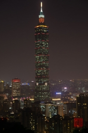 Taiwan 2012 - Taipei - Elephant Mountain - Taipeh 101 Night II