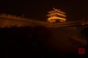 Pingyao 2013 - Wall & Watchhouse by night