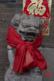 Pingyao 2013 - Hotel Lion Sculpture
