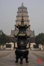 Xian 2013 - Giant Wild Goose Pagoda - Ash pot & Pagoda