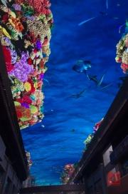 Xian 2013 - Shopping centre - LED roof - Ocean