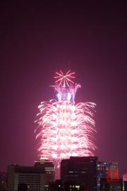 Taipeh 101 - 2013 Fireworks - Purple II