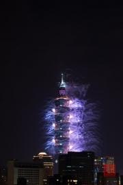 Taipeh 101 - 2013 Fireworks - Blue I