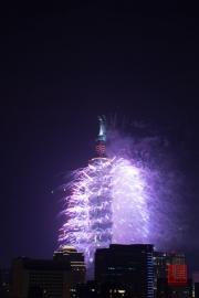Taipeh 101 - 2013 Fireworks - Purple V
