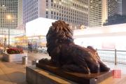 Hongkong 2014 - HSBC Lion with bullet marks
