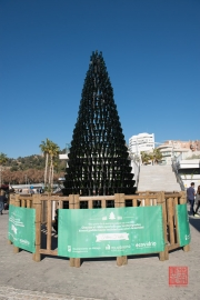 Malaga 2015 - Christmas Tree out of bottles