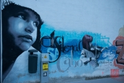 Granada 2015 - Graffiti - Girl playing violin