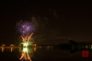 Nuremberg Spring Fair Fireworks 2015 - Gold & Blue & Green