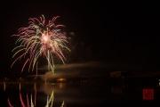 Nuremberg Spring Fair Fireworks 2015 - Gold & White & Red
