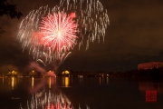Volksfest 2015 - Opening Fireworks - Red & Silver