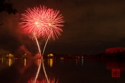 Volksfest 2015 - Opening Fireworks - Red