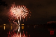 Volksfest 2015 - Opening Fireworks - White & Red