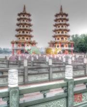 Taiwan 2015 - Kaohsiung - Tiger & Dragon Pagoda I